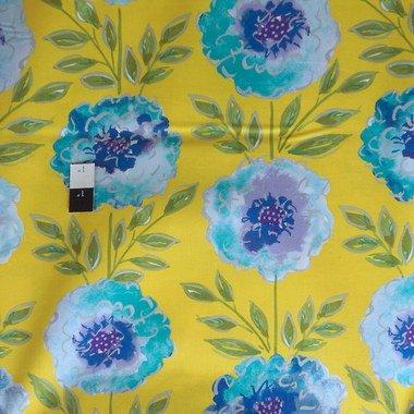 - Dena Designs PWDF137 The Painted Garden Rose Yellow Fabric 1 3/4 Yard