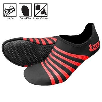 ZEMgear Playa Round Toe Low Footwear (XX-Small, Black / Red)