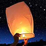 EIGIIS 20 PCS Wish Lantern Chinese Sky Lanterns Eco Friendly 100% Biodegradable For Birthday Wedding Party