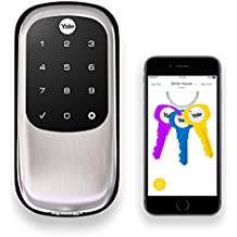 Yale Assure Lock with Bluetooth - Key Free Touchscreen in Satin Nickel - Your Phone Is Your Key (YRD446NR619)