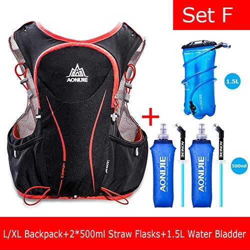 POJNGSN Hydration Pack Backpack Rucksack Bag Vest Harness Water Bladder Hiking Camping Running Race Sports 5L Set F by POJNGSN (Image #1)