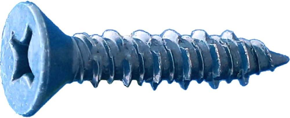 3//16 x 4 Dagger-Con Phillips Flat Concrete Screws Bulk Blue 1000ct