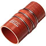 "HPS CAC-275-300-HOT Silicone High Temperature 4-Ply Aramid Reinforced Charge Air Cooler CAC Hose Hot Side, 100 Psi Maximum Pressure, 6"" Length, 2.75"" > 3"" ID, Orange"