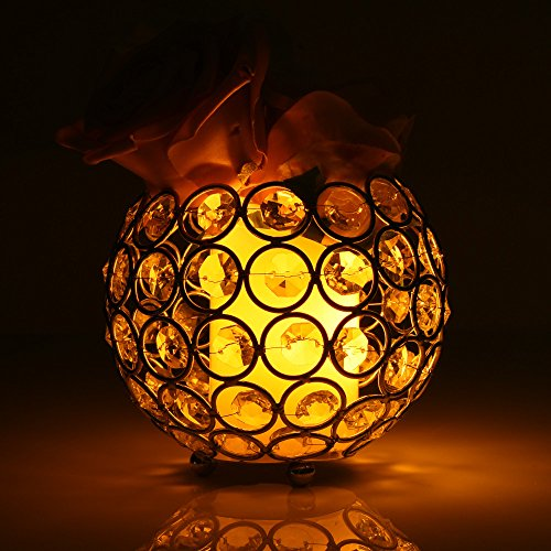 Gotian Valentines Day Mother's Day Light Lantern Candle Cup Holders, Crystal Tea Candlestick Light Candle Holders/Candle Shade for Wedding Coffee Table Holiday Decoration (Silver:10.510.510cm) ()