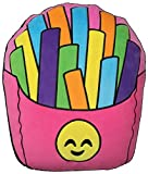 iscream Vanilla Scented Happiest Rainbow French Fries Embroidered Accent 18'' x 13'' Fleece Pillow