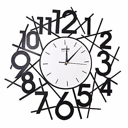 Amazon Com Byle Wall Clock Quartz Mute Non Ticking Silent Kitchen
