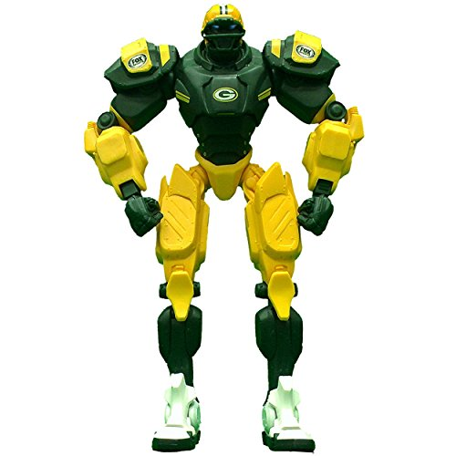 "Green Bay Packers 10"" Team Cleatus FOX Robot NFL Football Action Figure Version 2.0"