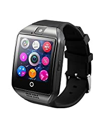 CSMARTE 2016 Newest Q18 Smartwatch with Camera Original TF/SIM Card Slot Built-in Facebook Twitter Wristwatch for Android Samsung Sony Huawei and iOs iphone 6S/6 Plus/5c/5s/5 etc (Black)