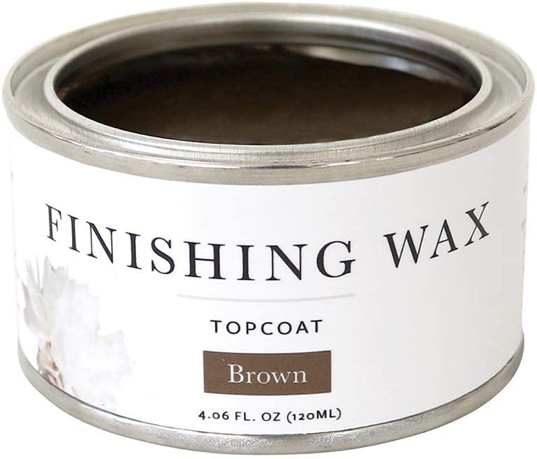 Jolie Finishing Wax - Protective Topcoat for Jolie Paint - Use on Interior Furniture, cabinets, Walls, Home Decor and Accessories - Odor-Free, Non-Hazardous - Brown - 120 ml