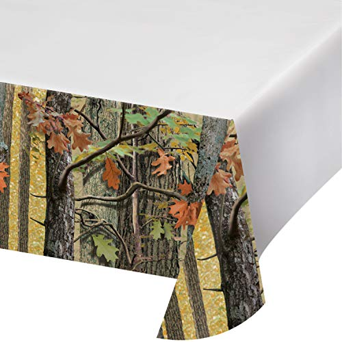 Camouflage Table Cover Plastic (Hunting Camo Plastic Tablecloths, 3)