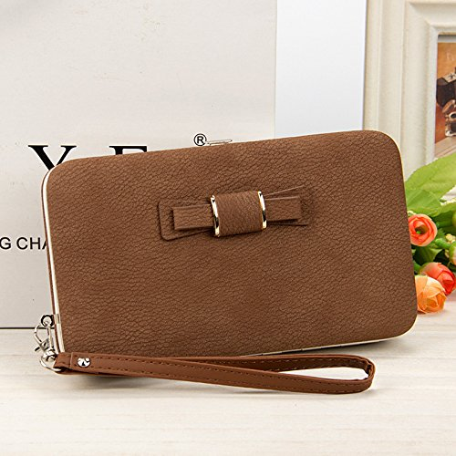Achieer Women Bowknot Wallet Long Purse Phone Card Holder Clutch Large Capacity Pocket by Achieer