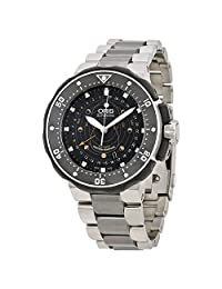 Oris ProDiver Pointer Moon Stainless Steel Mens Watch 761-7682-7154SET