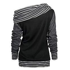 sheart 9 Casual Hoodies for Women Stripe...
