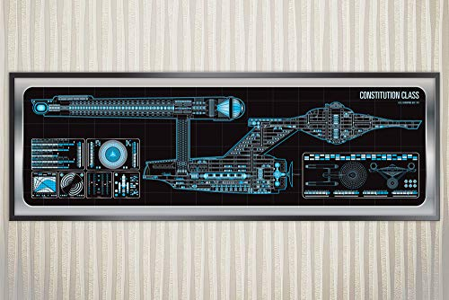 (USS Enterprise - 1701 - Constitution Class Starship Poster)
