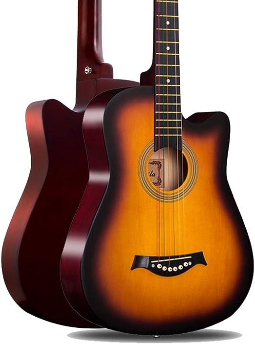 BAIYING-Guitarra Acústica Principiante Guitarra De Viaje ...