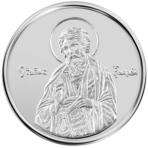 Conmemorativo-Moneda-Religiosa-Medalla-de-plata-San-Andres-el-Apostol-16-mm-30-g-110-oz