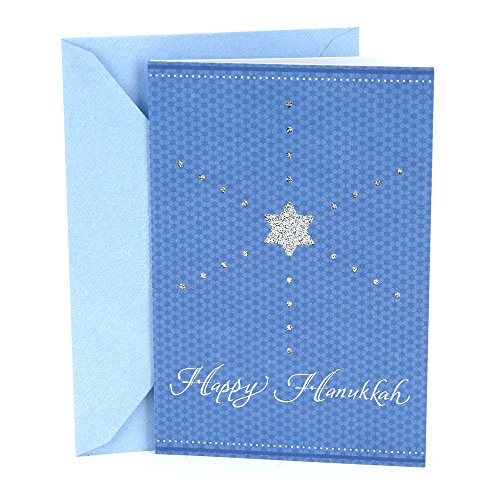 Hanukkah Glitter (Hallmark Tree of Life Hanukkah Greeting Card (Glitter)