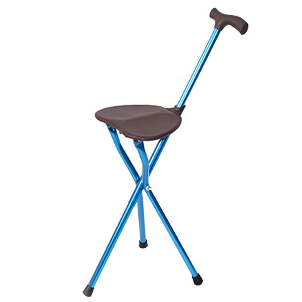 YGUOZ Gehstock Sitz Klappbarer Krücken Portable, Sitzstock mit T-Handgriff, Gehstock Leichtgewicht Aluminium für Väter Mütter Geschenke