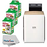 NEW Fujifilm instax SHARE Smartphone Printer SP-2 (Gold) + Fujifilm Instax Mini Twin Pack Instant Film (60 Shots) + Photo4Less Cleaning Cloth + Great Value Ultimate Filming Bundle