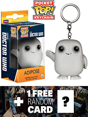 Adipose: Pocket POP! Keychain x Doctor Who Vinyl Figure + 1 FREE Official Dr Who Trading Card Bundle [49966]