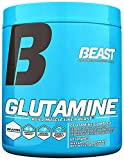 Beast Sports Nutrition Glutamine Powder Builds Lean Muscle and Strength. Glutamine Is An Amino Acid That Prevents Muscle Breakdown and Fatigue and Promotes Recovery. 300 Gms, 60 Servings, Unflavored
