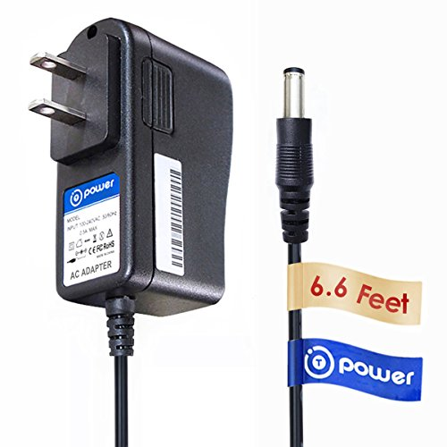 T-Power ( 6.6ft Cable ) AC Adapter For Audiovox PVS33116 PVD80 Pvd90q , Venturer PDV880 DT102 DT102A PVS6360 PVS69701 PVS69701 HB12-09010SPA PVS3393 PVD73 dual PVS72901 VDS102T Portable DVD player