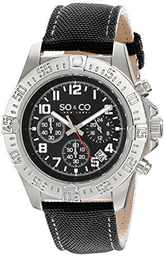 Yacht Timer (SO&CO New YorkMen's 5016.1 Yacht Timer Quartz Chronograph Date Black Leather Strap Watch)