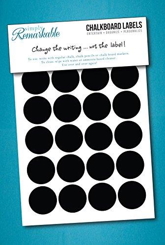 40 Circle Chalk Labels Chalkboard product image