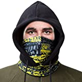 SHINYMOD Balaclava Ski Mask, Unisex UV Protection Full Winter Biker Snowboard Face Masker Motorcycle Black Baklava Fleece Cycling Hat Hunting Tactical Hood Skull Neck Scarf Warmer Cover for Men Women