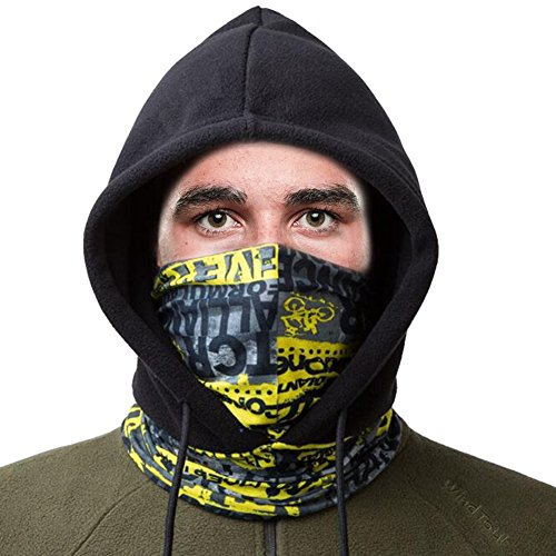 SHINYMOD Balaclava Ski Mask, Unisex UV Protection Full Winter Biker Snowboard Face Masker Motorcycle Black Baklava Fleece Cycling Hat Hunting Tactical Hood Skull Neck Scarf Warmer Cover for Men Women by SHINYMOD