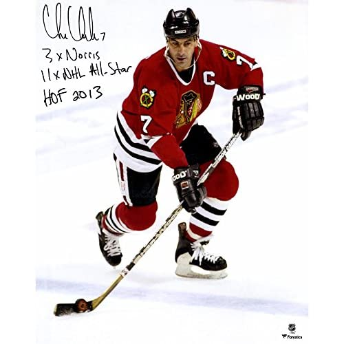 cheap Chris Chelios Chicago Blackhawks Autographed 16