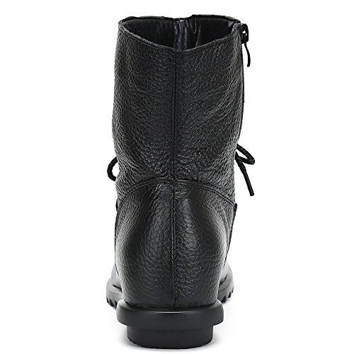 Nero Piatto Inverno Saguaro All'aperto Stivaletto Boots Donne Scarpe Autunno Stivali Neve Scarponi Caldo Pelle Antiscivolo Peluche gwqZgOFx