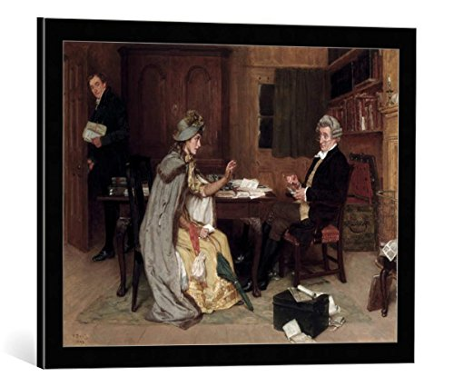 (kunst für alle Framed Art Print: Frank DADD Consulting her Lawyer - Decorative Fine Art Poster, Picture with Frame, 25.6x19.7 inch / 65x50 cm, Black/Edge Grey)