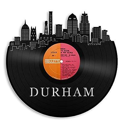 Amazon Com Vinylshopus Durham Vinyl Wall Art City Skyline