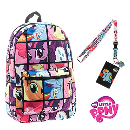 My Little Pony Backpack with Lanyard and Keychain Charm (Comic Strip Version) (My Little Pony Xbox)