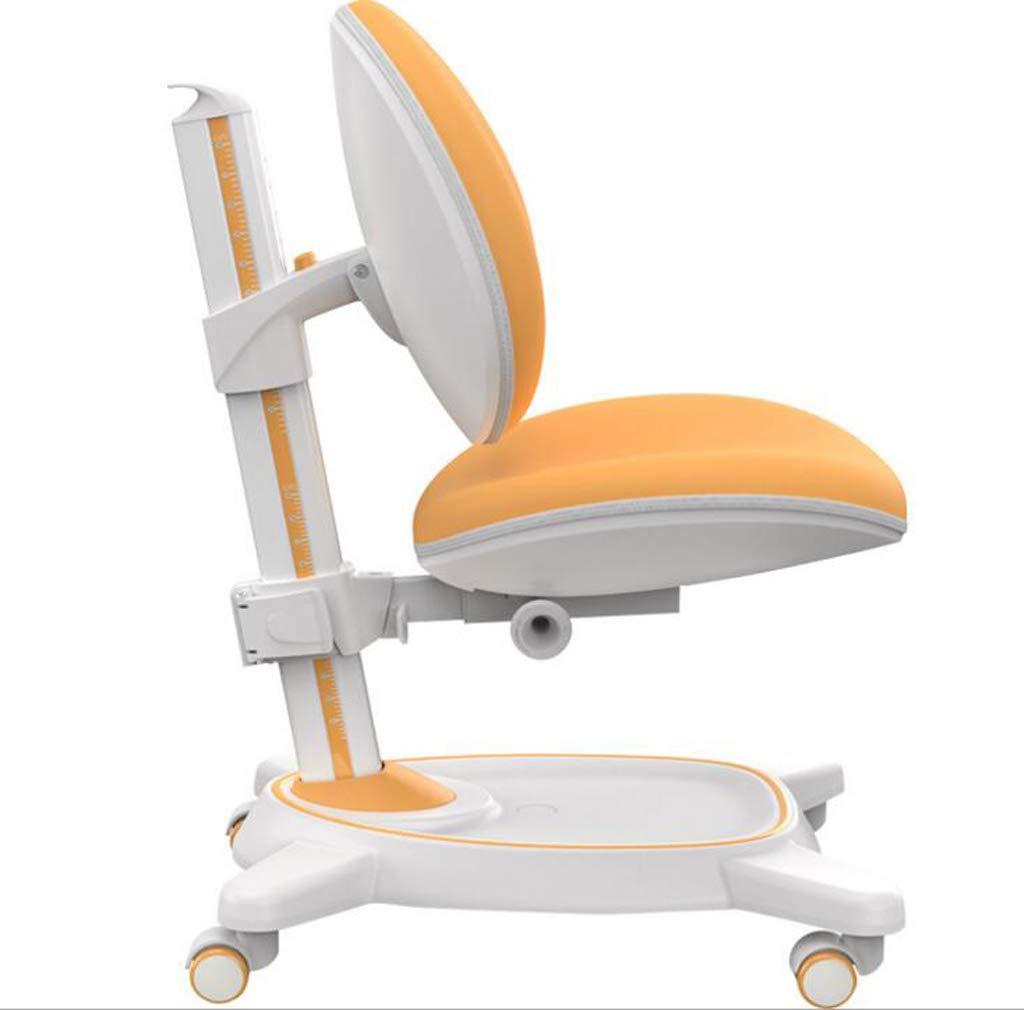 子供用デスクチェア、子供用学生チェア、人間工学に基づいた調整可能な回転式ホームコンピュータオフィスタスクチェア,Orange B07QGK259S Orange