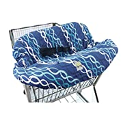 Itzy Ritzy Sitzy Shopping Cart and High Chair Cover, Floral Stripe, Multi