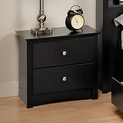 Prepac Sonoma Black Full Queen Wood Bookcase Headboard 2 Piece Bedroom Set Furniture Furniture