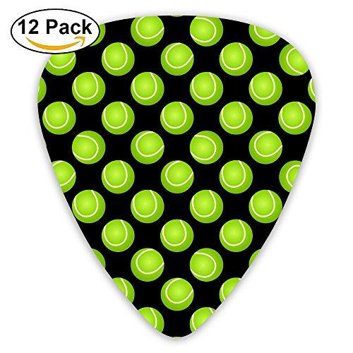 Tennis Ball Sport Green Pattern Fashion Guitar Picks 351 Shape Classic Picks Celluloid Bakelite Guitar Picks Best Gifts For Men Women Guitarist Include 0.46mm, 0.71mm, 0.96mm 12-Pack (Bakelite Ball)