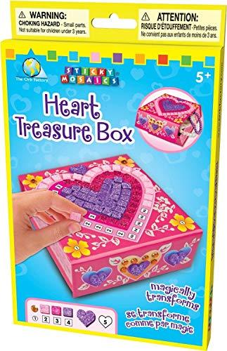 Treasure Heart Box - The Orb Factory Sticky Mosaics Heart Treasure Box