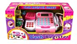 KX Supermarket Pretend Play Battery Operated Toy Cash Register w/ Working Scanning Action, Mock Scale and Money, Groceries
