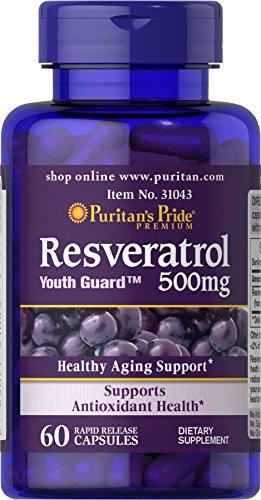 Puritan's Pride Resveratrol 500 mg-60 Capsules (Mg 500 Resveratrol)