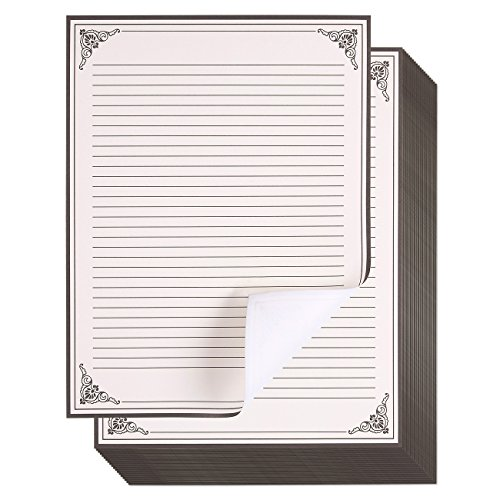 96-Pack Vintage Stationery Paper - Antique Style Paper - Perfect for Writing Poems, Lyrics and Letters - Cream - 8.5 x 11 Inches