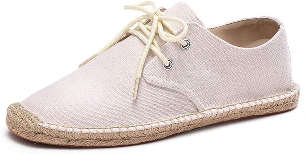 Chaussures été toile décontractées homme espadrille à lacets