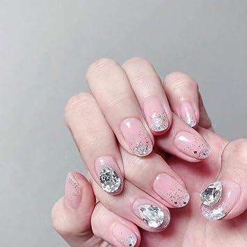 QULIN Uñas postizas Faux Nails Moda Transparente Prensa sobre uñas ...