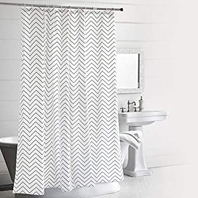 LAOBANNIANG Simple Ribbed Shower Curtain Fabric for Bathroom,Waterproof andThickened 72 x 72 inches-White - Material:Polyester,Heavy Lead Drop at Bottom to ensure no flutter and non stick PREMIUM QUALITY: The tight weave of the fabric, and superior quality of the polyester yarns provide this curtain with a firm, ensuring opacitys ,mooth texture, which promotes water bead formation and is made to withstand damp, moisture rich bathroom environments; Drapes beautifully for a clean fresh look in your bathroom and has a soft hand feel REINFORCED BUTTON HOLES: Reinforced stainless steel button holes ;Top hem is reinforced to hold up to long term use; This shower curtain is perfect for anyone wanting to add some fun and whimsy to their shower - use at home, apartment, condo, hotel, camper, RV, dorm room, school show, athletic club, gym and everywhere else ,you need a reliable shower curtain - shower-curtains, bathroom-linens, bathroom - 51Yems1Gu8L. SS400  -