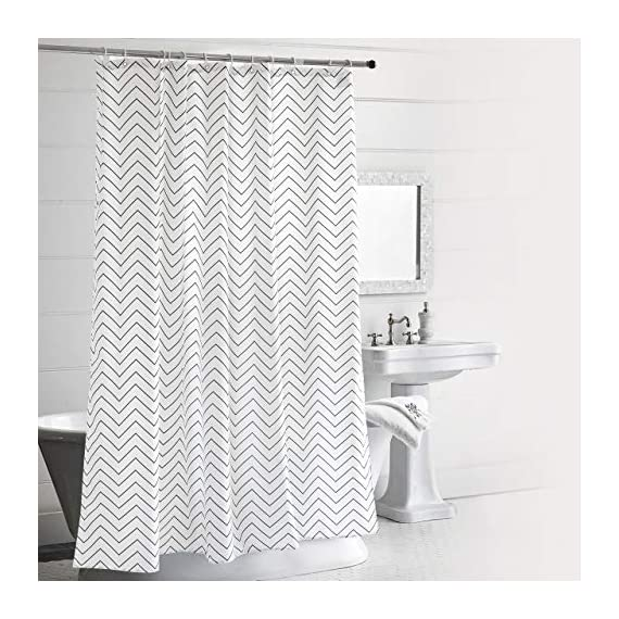LAOBANNIANG Simple Ribbed Shower Curtain Fabric for Bathroom,Waterproof and Thickened 72 x 72 inches-White - Material:Polyester,Heavy Lead Drop at Bottom to ensure no flutter and non stick PREMIUM QUALITY: The tight weave of the fabric, and superior quality of the polyester yarns provide this curtain with a firm, ensuring opacitys ,mooth texture, which promotes water bead formation and is made to withstand damp, moisture rich bathroom environments; Drapes beautifully for a clean fresh look in your bathroom and has a soft hand feel REINFORCED BUTTON HOLES: Reinforced stainless steel button holes ;Top hem is reinforced to hold up to long term use; This shower curtain is perfect for anyone wanting to add some fun and whimsy to their shower - use at home, apartment, condo, hotel, camper, RV, dorm room, school show, athletic club, gym and everywhere else ,you need a reliable shower curtain - shower-curtains, bathroom-linens, bathroom - 51Yems1Gu8L. SS570  -