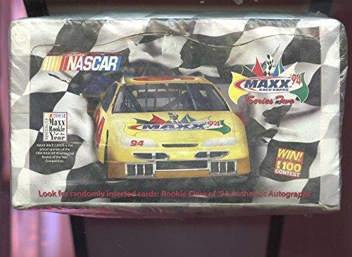 - 1994 Maxx Race Racing Nascar Car Series 2 Two Card Set Wax Pack Box Winston Cup