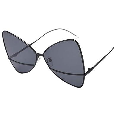 parzinkk Gafas De Sol De Tendencia De Cara Redonda Con Gafas ...