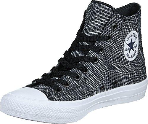 Converse Unisex Chuck Taylor All Star II Hi Top Sneaker (6.5 Men/Women 8.5, Black/White)